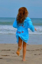 Blue Adult Beach/Bath Robe